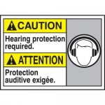 """Accuform MAFC619XT10, Bilingual Safety Sign """"Hearing Protection…"""""""