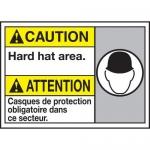 "Accuform MAFC623XT10, Bilingual ANSI Safety Sign ""Hard Hat Area"""