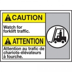"""Accuform MAFC635XT10, Bilingual ANSI Safety Sign """"Watch Out For…"""""""