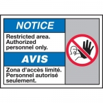 """Accuform MAFC811XT10, ANSI Notice Safety Sign """"Restricted Area…"""""""