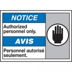 """Accuform MAFC819XT10, ANSI Safety Sign """"Authorized Personnel Only"""""""