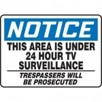 "Accuform MASE812XF10, OSHA Notice Safety Sign ""This Area Is Under…"""