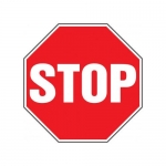 "Accuform MAST200XF10, 12″ x 12″ Safety Sign ""Stop"" Dura-Fiberglass"