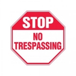 """Accuform MAST210XF10, Stop Safety Sign """"No Trespassing"""""""
