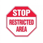 """Accuform MAST212XF10, Stop Safety Sign """"Restricted Area"""""""