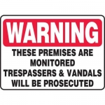 "Accuform MATR309XF10, Warning Safety Sign ""No Trespassing …"""