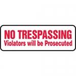 "Accuform MATR519XF10, Safety Sign ""No Trespassing – Violators…"""