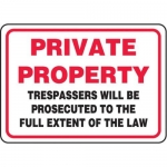 """Accuform MATR535XF10, Safety Sign """"Private Property…"""""""