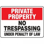 """Accuform MATR977XF10, Private Property Safety Sign """"No Trespassing…"""""""