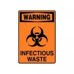 "Accuform MBHZ028XP10, OSHA Warning Safety Sign ""Infectious Waste"""