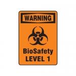 "Accuform MBHZ323VS, OSHA Warning Biohazard Sign ""Biosafety Level"""