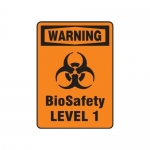 "Accuform MBHZ323XL, OSHA Warning Biohazard Sign ""Biosafety Level"""
