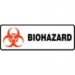 """Accuform MBHZ511XT10, 4″ x 12″ Safety Sign """"Biohazard"""" Dura-Plastic"""