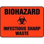 "Accuform MBHZ515XP10, Biohazard Safety Sign ""Infectious Sharp Waste"""