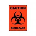 """Accuform MBHZ522VS10, OSHA Caution Safety Sign """"Biohazard"""" Vinyl"""