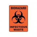 "Accuform MBHZ531XP10, Safety Sign ""Biohazard – Infectious Waste"""
