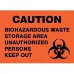 "Accuform MBHZ532XP10, Caution Safety Sign ""Biohazardous Waste…"""
