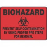 "Accuform MBHZ549XT10, Safety Sign ""Prevent Self-Contamination…"""