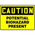 "Accuform MBHZ610VS10, OSHA Safety Sign ""Potential Biohazard Present"""