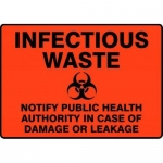 """Accuform MBHZ921XP10, Safety Sign """"Infectious Waste…"""" Accu-Shield"""