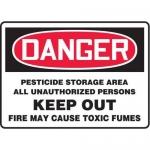 "Accuform MCAW002XT10, Danger Safety Sign ""Pesticide Storage Area…"""