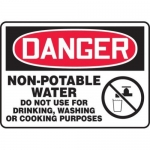 """Accuform MCAW017XF10, OSHA Danger Safety Sign """"Non-Potable Water…"""""""