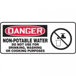 """Accuform MCAW021XF10, OSHA Danger Safety Sign """"Non-Potable Water…"""""""