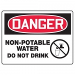 """Accuform MCAW036XF10, OSHA Danger Safety Sign """"Non-Potable Water…"""""""