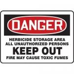 """Accuform MCAW038XT, OSHA Danger Safety Sign """"Herbicide Storage…"""""""