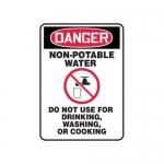 """Accuform MCAW105XF10, OSHA Danger Safety Sign """"Non-Potable Water…"""""""