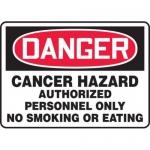 """Accuform MCAW123XT10, OSHA Danger Safety Sign """"Cancer Hazard…"""""""