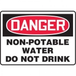 """Accuform MCAW125XF10, OSHA Danger Safety Sign """"Non-Potable Water…"""""""