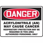 """Accuform MCAW172XV10, Sign """"Acrylonitrile (An) May Cause Cancer…"""""""