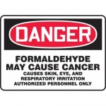"""Accuform MCAW181XF10, OSHA Danger Safety Sign """"Formaldehyde May…"""""""