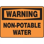 """Accuform MCAW301XF10, OSHA Warning Safety Sign """"Non-Potable Water"""""""