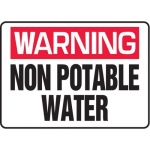 """Accuform MCAW305XF10, Warning Safety Sign """"Non Potable Water"""""""