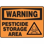 "Accuform MCAW315VP10, Warning Safety Sign ""Pesticide Storage Area"""