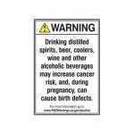 "Accuform MCAW342VA, ANSI Warning Safety Sign ""Alcoholic Beverages"""