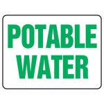 """Accuform MCAW501XF10, Safety Sign """"Potable Water"""" Dura-Fiberglass"""