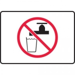 Accuform MCAW505XT10, Safety Sign Water Not For Drinking Pictogram