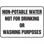 "Accuform MCAW515XT10, Sign ""Not for Drinking or Washing Purposes"""