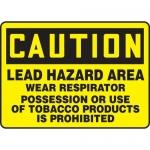 "Accuform MCAW607XT10, OSHA Caution Safety Sign ""Lead Hazard Area…"""