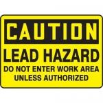 "Accuform MCAW610XT10, OSHA Caution Safety Sign ""Lead Hazard…"""