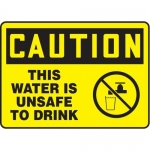 """Accuform MCAW611XF10, OSHA Caution Safety Sign """"This Water…"""""""