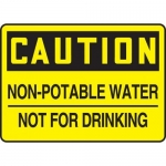 """Accuform MCAW615XF10, OSHA Caution Safety Sign """"Non-Potable Water…"""""""