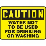 """Accuform MCAW616XF10, OSHA Caution Safety Sign """"Water Not to Be…"""""""