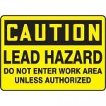 "Accuform MCAW621XT10, OSHA Caution Safety Sign ""Lead Hazard…"""