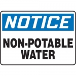 """Accuform MCAW800XF10, OSHA Notice Safety Sign """"Non-Potable Water"""""""