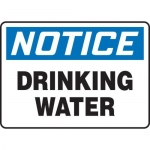 """Accuform MCAW801XF10, OSHA Notice Safety Sign """"Drinking Water"""""""