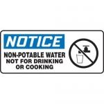 """Accuform MCAW803XF10, OSHA Notice Safety Sign """"Non-Potable Water…"""""""